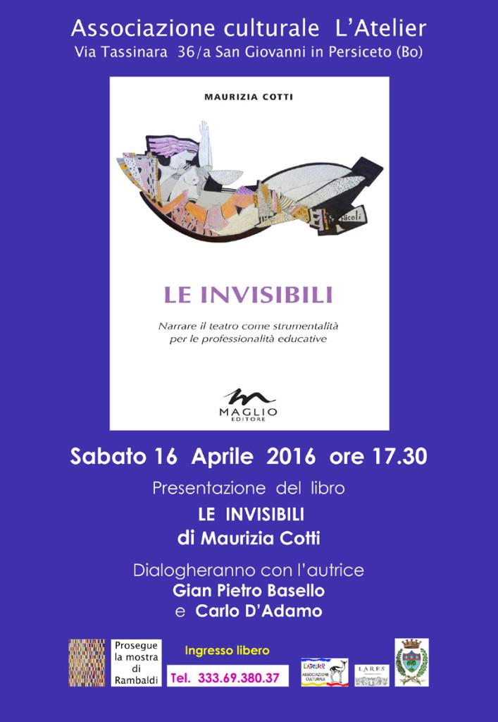-x-L'Atelier-Invito-presentazione del libro-Le invisibili di Maurizia Cotti